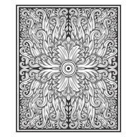 Motivo floreale damascato effetto legno intagliato vintage