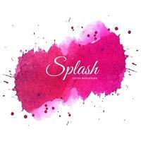 Morbido disegno ad acquerello rosa splash vettore