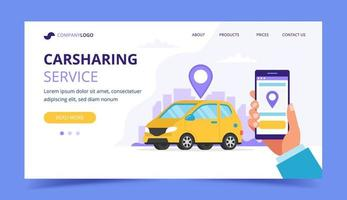 Pagina di destinazione del car sharing