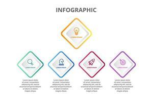 Progettazione infografica con 5 icone opzioni o passaggi vettore