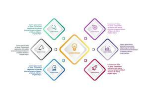 Progettazione infografica con 6 icone opzioni o passaggi vettore