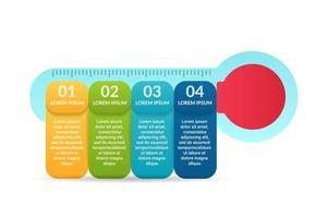 progettazione infografica medica con opzioni o elenco vettore