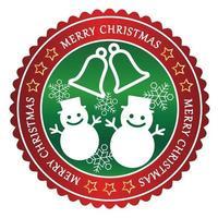 Distintivo di Natale su uno sfondo bianco.