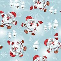 Seamless pattern di Babbo Natale vettore