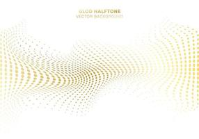 la curva dell'onda d'oro distorce il motivo a punti