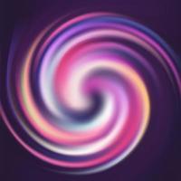 Arricciatura a spirale di rotazione colorata a strisce astratta