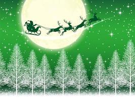 Sfondo di Natale senza soluzione di continuità con Babbo Natale vettore