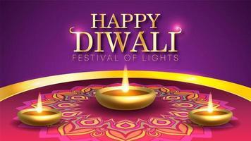 Diwali il festival delle luci in India vettore
