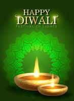 Diwali, Deepavali o Dipavali il festival delle luci India vettore