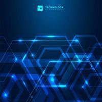 forma esagonale geometrica con tecnologia a luce incandescente