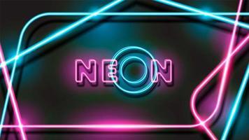 Disegno di sfondo nero al neon incandescente astratto vettore