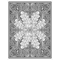 Motivo floreale verticale effetto legno intagliato