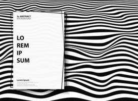 Motivo ondulato a strisce zebra bianco e nero astratto