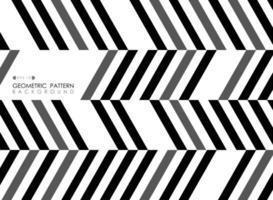 Modello di arte op grigio e bianco nero a strisce diagonali astratte vettore
