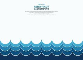 Modello d'onda minimalista astratto dell'acqua blu vettore