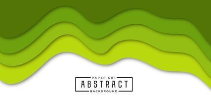 Elegante carta verde tagliata sullo sfondo