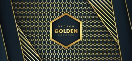 Sfondo di lusso con strisce e motivo dorato vettore