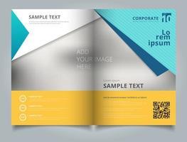 Progettazione di layout brochure aziendale modello vettore