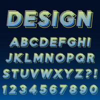 Alfabeto effetto moderno design vettore