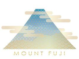 Simbolo di saluto di Capodanno con il Monte. Fuji