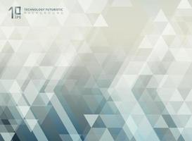 Freccia futuristica tecnologia astratta e modello di triangoli