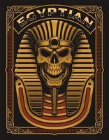 Poster di teschio egiziano vettore