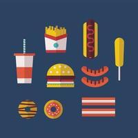 Fast Food Tipico Americano vettore