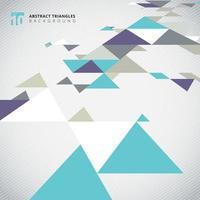 Modello moderno dei triangoli di colore freddo di prospettiva astratta
