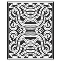 Pattern di linee intrecciate ad effetto intagliato decorato