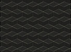 Estratto del modello di forme di linea geometrica dell'oro