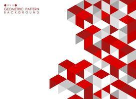Astratto geometrico rosso con triangoli poligonali vettore