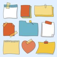 Set di note adesive multi-forma vettore