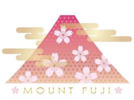 Monte Fuji nella stagione primaverile