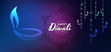 Priorità bassa artistica per il vettore felice di festival di diwali