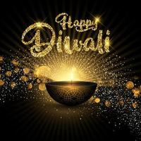 Sfondo glitterato di diwali