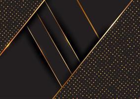 sfondo nero e oro linee diagonali vettore