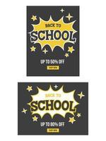 Torna al poster di vendita a scuola