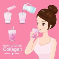 Come bere delizioso collagene vettore