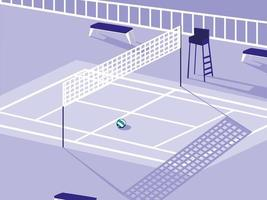 pallavolo campo sportivo vettore