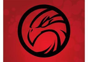logo vettoriale falco