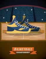 Locandina gioco campionato di basket vettore