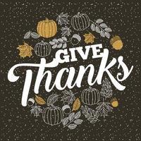 Messaggio del ringraziamento con disegni di zucca