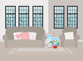 scena di casa bellissimo soggiorno vettore