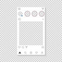 Modello di applicazione fotografica vettore