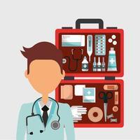 poster di assistenza sanitaria medica