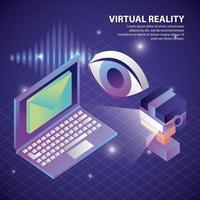 realtà virtuale isometrica vettore