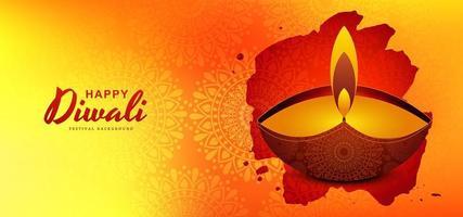 Elegante diwali festival greeting card design sfondo