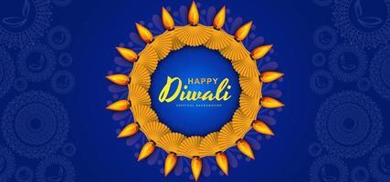 Scheda per felice diwali festival celebrazione dello sfondo