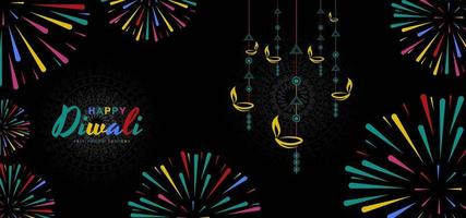 Bellissimo biglietto di auguri per il festival della comunità indù Diwali Background