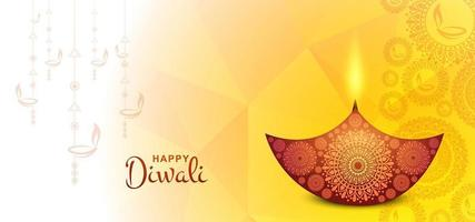 Illustrazione creativa del modello felice di progettazione della carta da parati di Diwali